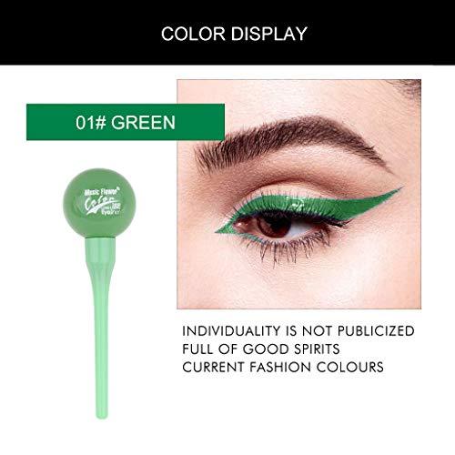 Liquid Eyeliner Grün, Flüssig Eyeliner Stift Präzisionsspitze für einen einfachen exakten...