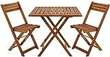 Conjunto de muebles de restaurante de jardín de madera y silla plegable de mesa...