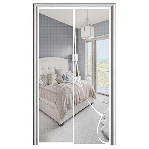 Mosquitera Puerta Magnetica, Adsorción Magnética Plegable Anti Mosquito Insecto Mosquitera, para Puertas de Salón Balcón Corredor-White|| 75x200cm(29x78inch)