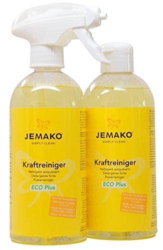 1 Liter JEMAKO Kraftreiniger ECO Plus 2 x 500 ml + Sprühpumpe