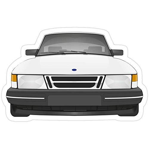 DKISEE 3 pegatinas Saab 900 – Adhesivo blanco hielo para ordenador portátil, teléfono, coche, vinilo divertido para ordenadores portátiles, guitarra, nevera, 4 pulgadas