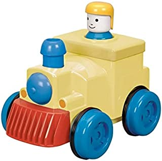 Battat Bath Buddies - 9 Buddies - Assorted Pump & Go Train Engine by Battat, One Size