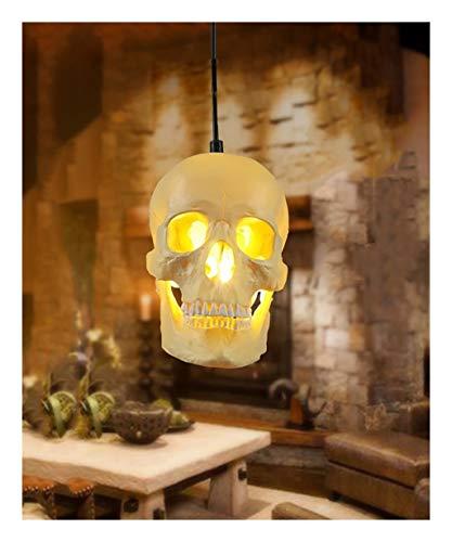 wxq Luz Pendiente del Techo de la Resina de la lámpara de la Cabeza del cráneo for la Tienda del Dormitorio del Restaurante, 250m MX 150m m, E27,41W-50W (Color : 1 pcs)
