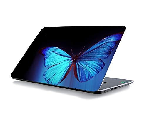 RADANYA Blauer Schmetterling Laptop Skin Aufkleber Passt Für Alle Modelle Für Bildschirmgrößen - 15 X 10 Zoll