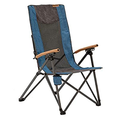 Eureka! Highback Recliner Portable Folding Camping Chair with Bottle Holder