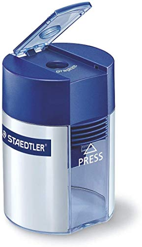 STAEDTLER for Pencils up to 8.2 mm Diameter Tub Round Sharpener, Blue