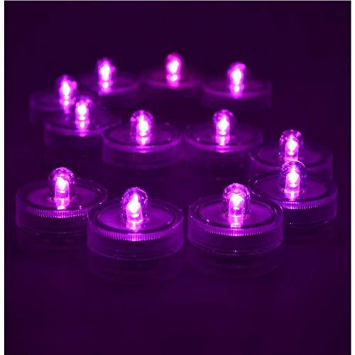 10 velas LED sin llama para té, funciona con pilas, impermeables, sumergibles, decorativas para florero, pecera, boda, centro de mesa de Halloween