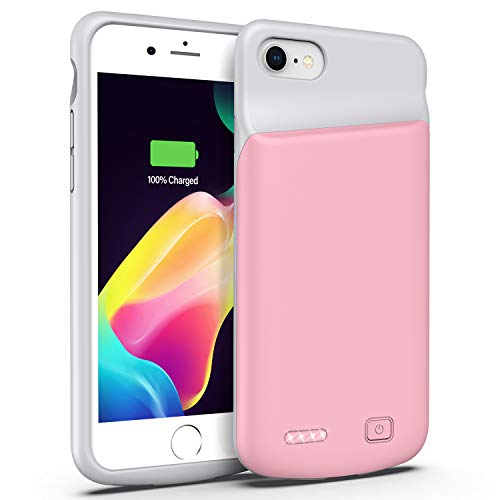 Battery Case for iPhone 6/6s, 4500mAh Portable Extended Smart Battery Pack and Protective Charger Case Updated Version (Rose Gold)