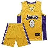 Strength Maillots De Basketball Hommes Adulte Basket Maillots Bryant #8 Basketball T-Shirt Jersey Et Short Ensemble De Maillot pour