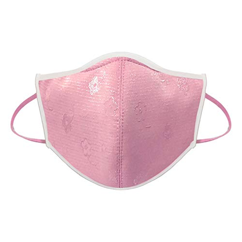 Reusable Fabric 3-Dimensional Face Mask Shield with Replacement Filter Slot - Activated Carbon Washable Protective Cloth Mask for Adult, Made in Taiwan (Pink, Adult - 1 Pack)