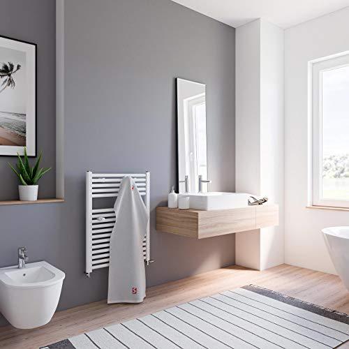 Schulte Bad-Heizkörper Pyrenäen, 77x60 cm, 457 Watt, Anschluss unten, alpin-weiß, Design-Heizkörper für Zweirohrsysteme
