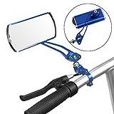 Jeemitery Bicycle MirrorA Pair 360°Rotation Back Rearview Mirror Handlebar Wide Angle Bike Mirror-Blue