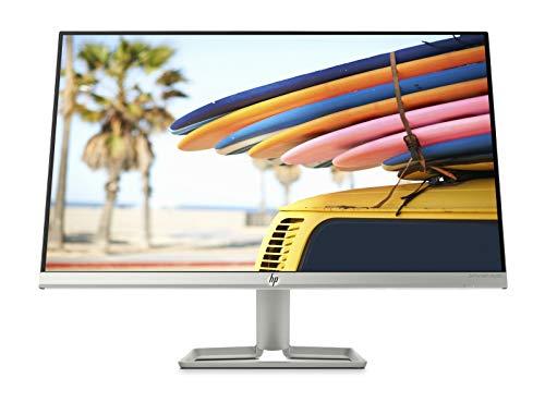 """HP – PC 24fw Monitor con Casse Audio, Schermo 23.8"""" IPS FHD Risoluzione 1920 x 1080, Antiriflesso, Tecnologia AMD FreeSync, Tempo Risposta 5 ms Overdrive, Regolazione Inclinazione, HDMI, VGA, Argento"""