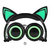 Mavis Laven Headset, Kinder Katzenohr LED-Leuchten Musik Kopfhörer...