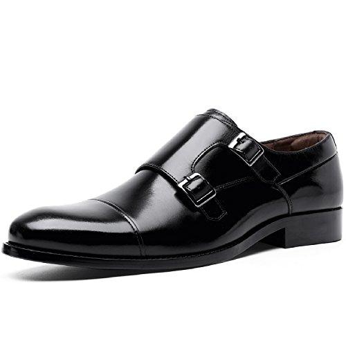 Desai Zapatos Estilo Monje de Doble Hebilla para Hombre