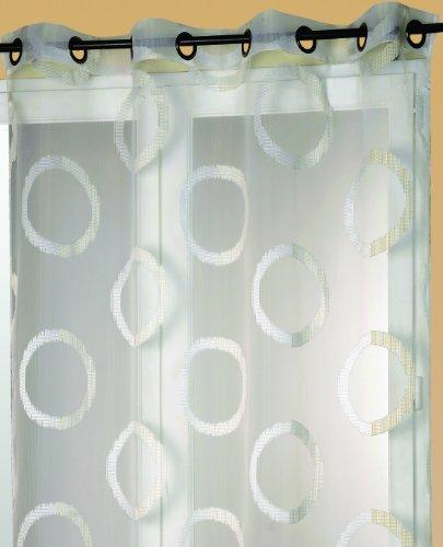 HomeMaison Ösenvorhang, aus Polyester, Design Organza Jacquard Weiß weiß
