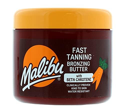 Malibu Fast Tanning Water Resistant Bronzing Body Butter with Beta Carotene, 300ml