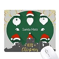 クリスマスにサンタクロースの肖像画 クリスマスイブのゴムマウスパッド