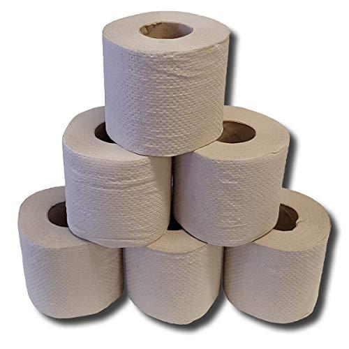 Recycling-Toilettenpapier, Toilettenpapier Großpackung, WC-Papier Kleinrollen, Klopapier, 1 lagig, 400 Blatt, 64 Rollen
