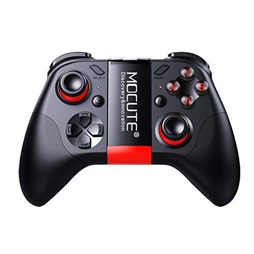 Umiwe Bluetooth Game Controller, Rechargeable Remote Wireless Bluetooth V 3.0 Game Gamepad Joypad Joystick with Phone Clip for iPhone Android Smartphones IPad TV/PC Controller 3D VR Headset