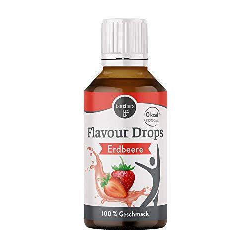 borchers Flavour Drops, Erdbeere, 0 Kalorien, Süßstoff Flüssig, Zum Kochen und Backen, Für Getränke, Lebensmittelaroma 30 ml
