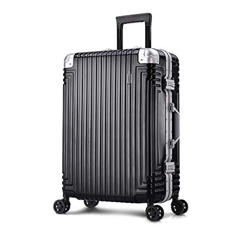 Set di valigie rigide con ruote for trolley Carrello for bagagli Valigia muta in alluminio con telaio in alluminio (Color : Rose gold, Size : 20in)