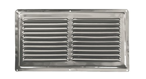 Air Vent INOX, Stainless Steel Non Magnetic Ventilation Grille 320 x 180 cm...