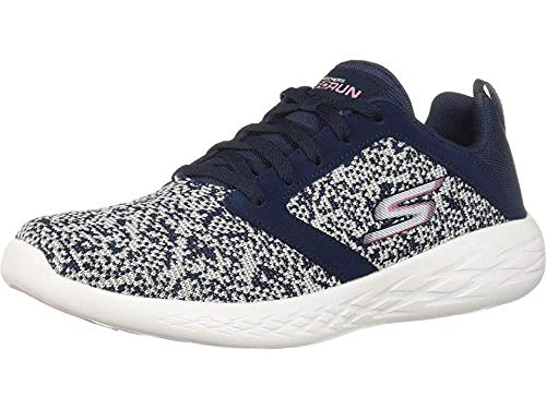 Skechers Women's GO Run 600-15097 Sneaker, Navy/Pink, 5.5 M US