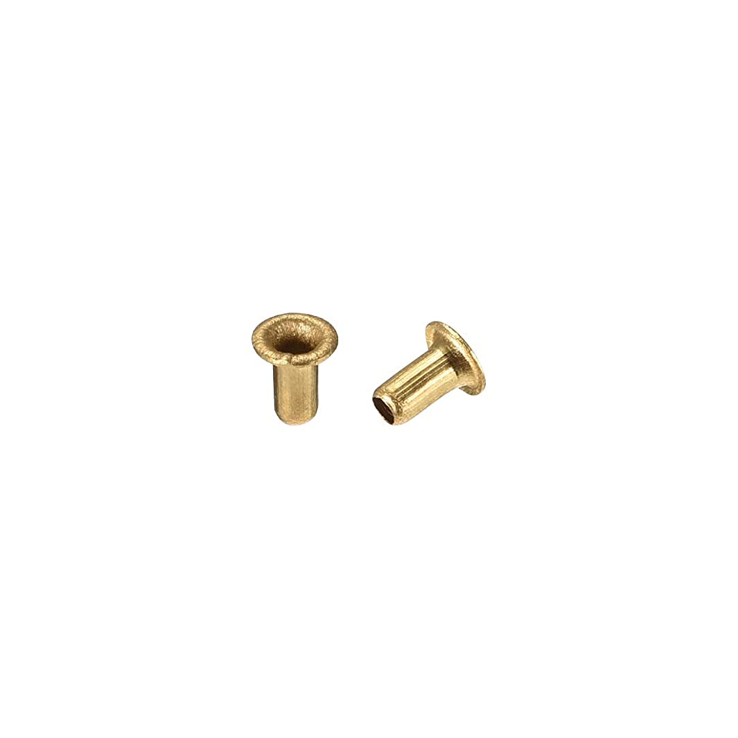 uxcell Hollow Rivet,2.5mm x 5mm Through Hole Copper Hollow Rivets Grommets Double-Sided Circuit Board PCB 200Pcs