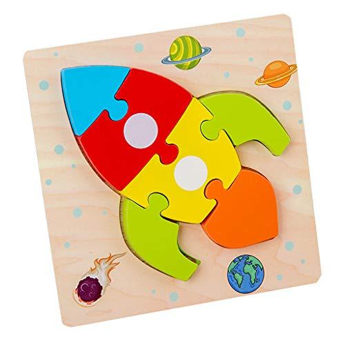Puzzles de Madera, Desarrollo Educativo Bebé Niños Juguete RegaloJuguete educativo para niños pequeños 1 2 3 años niño niña niña juguete educativo (I)