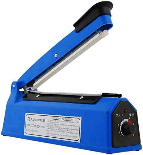 wkwk Sellador térmico para PP y PE Sellador de Bolsas de plástico (200 MM) Sellador de impulsos Sellador de Alimentos al vacío Máquina de envasado de Bolsas Sellador de Bolsas de plástico