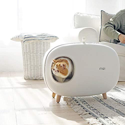 Zcx Reinigen Sie Haustier-Katze Kitty Große Katzen Katzenklo, Modern Katzentoilette gekapselte Konstruktion, Prevent Sand Leakage, leicht zu reinigen Anti-Spritzer, und Deodorant Cat Toiletcat Potty