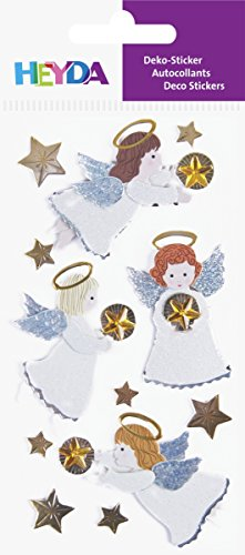 Baier schneider-étiquette & stickers autocollants-mix lot de 6 anges, lot de 4 couleurs 1