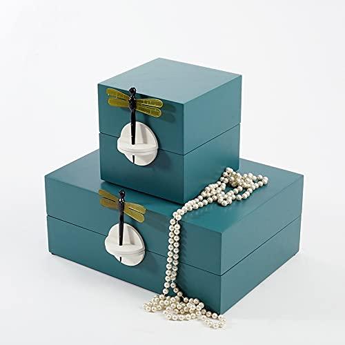 gongxi Caja De Almacenamiento De Cuerno De Libélula, Caja Organizadora De Gran Capacidad, Caja De Almacenamiento De Joyería-Blue