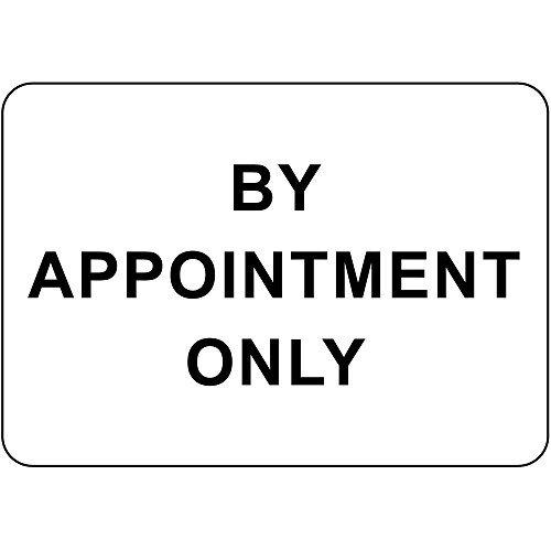 by Appointment Only Lustiges reflektierendes Schild für Frauen im Außenbereich, Metall/Aluminium