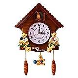 Gcdn in Legno Orologio a Cucù Swing Timer Stile Vintage Swing Sveglia Orologio per Casa per Bambini Camera Studiare Camera Decorazione Muro