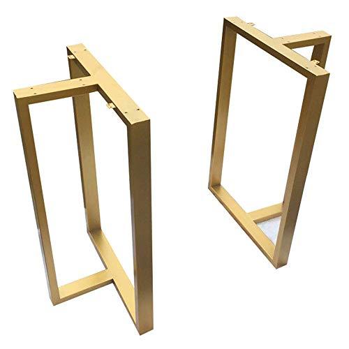 WENYAO Höhe 27,6 Zoll Metall Tischbeine, T-Form, DIY Eisen Esstisch Bein, Couchtisch Beine, Bar Beine, Industrial Modern, Gold, 2er-Set