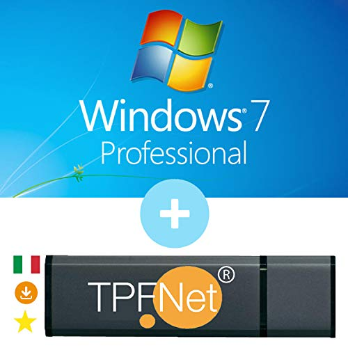 MS Windows 7 Pro 32 & 64 bit - Licenza Originale con Chiavetta USB Avviabile di TPFNet®