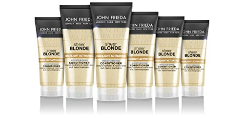 John Frieda Sheer Blonde Highlight activerende vochtinbrengende shampoo, 500 ml 6 x 50 ml Conditioner (moisturising).
