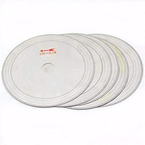 DXX-HR Juego de 10 hojas de sierra circular de metal de 0,43 mm, 150 mm x 20 mm, corte de discos de madera, metal y plástico