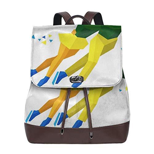 Women Leather Backpack Skater Sports Figure Skating, Schoolbag Casual Daypack School Travel Bag Satchel Laptop Backpacks for Women