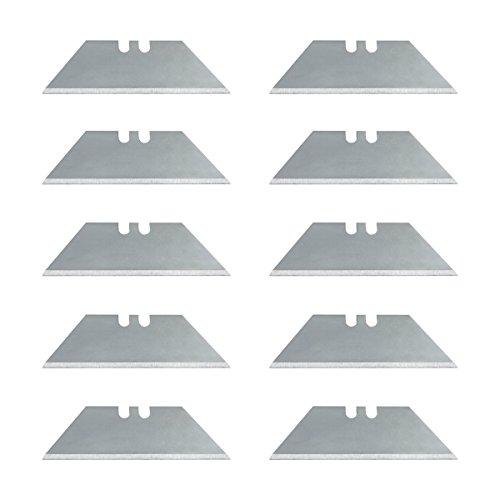 Wedo 7881 Cutter Ersatzklingen Trapez (für Safety Cutter und Werkzeug - Klappmesser, aus SK5-Carbonstahl, 61x19mm) 10 Stück, silber