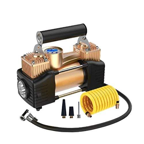 SUCAN Inflador inflable del neumático del coche de la bomba del compresor de aire del cilindro doble de 12V 200PSI