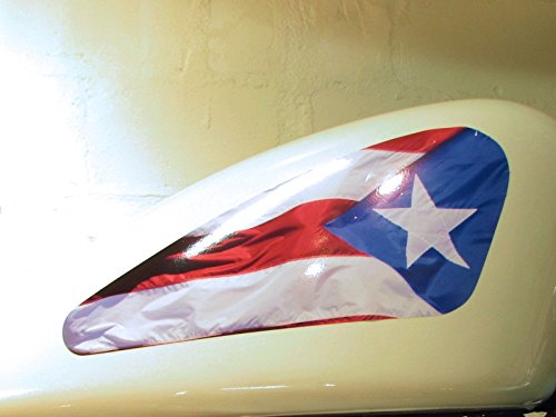 East Coast Vinyl Werkz Fuel Tank Decals - Puerto Rico Flag 2 pc Set for Harley Davidson Sportsters