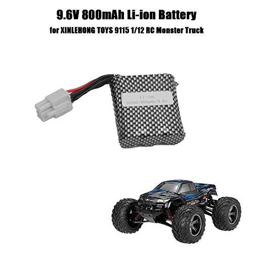 Goolsky Batería del Li-Ion de 9.6V 800mAh para los Juguetes de XINLEHONG 9115 1/12 40km / h RTR RC de Alta Velocidad Monster Truck