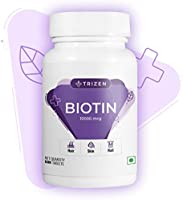 Trizen Biotin | 10000mcg | for Hair Growth | 60 Veg Tablets