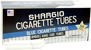 Shargio Cigarette Tubes 250ct Box - Blue King Size Light (4 Boxes)