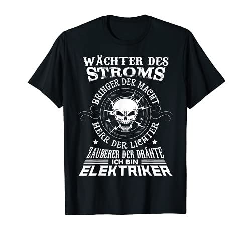 Wächter des Stromes Elektriker-T-Shirt