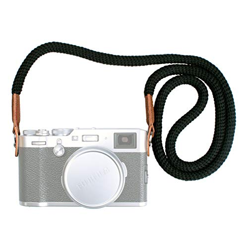 VKO Soft Cotton Rope Camera Neck Strap, Shoulder Strap Compatible for Sony A6100 A6600 A6000 A6300 A6500 A6400 RXIR II RX10 IV X100F X-T30 X-T3 X-T20 X-T2 X100T Camera Black