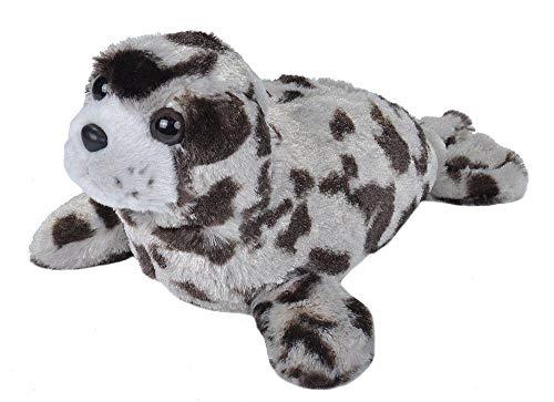 Wild Republic Plüsch Seehund, Cuddlekins Kuscheltier, Plüschtier 20 cm, Grau, 22451